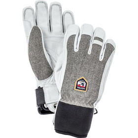 Hestra Army Leather Patrol Gloves 5-Finger light grey